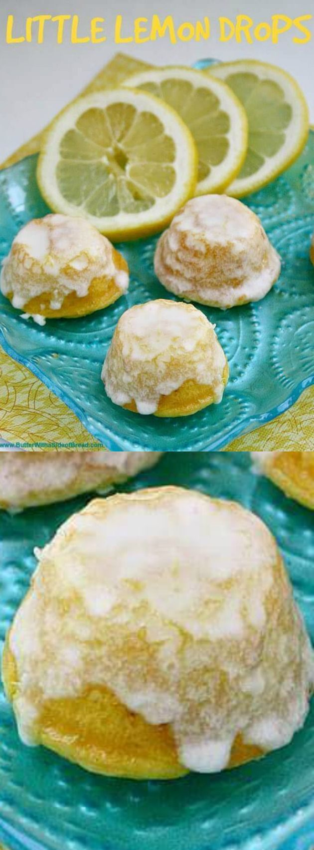 These Little Lemon Drops from Butter with a Side of Bread are the perfect bite-sized delicious lemon cake that your friends and family will gobble right up this summer!