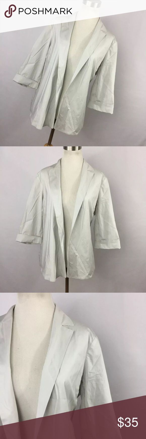 """Peter O Mahler M Jacket Gray Cement Lagenlook Peter O Mahler 2 M Medium Jacket Light Gray Cement Lagenlook Open Front L/S. Excellent condition. Smoke free home. Chest measurement - 46"""" Length measurement - 23"""" Sleeve Length measurement - 16"""" peter o mahler Jackets & Coats"""