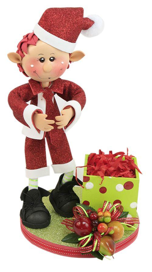 Adorno navideño / Santa Claus / Navidad / rojo / Decoración / Termoformado