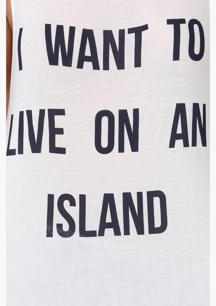 I want to live on an island