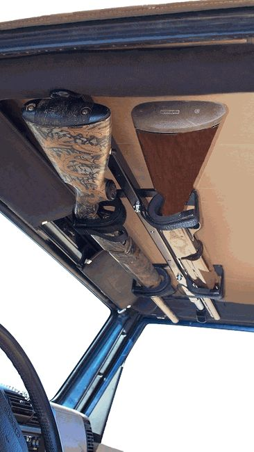 All Things Jeep - Quick Draw Overhead Gun Rack from Great Day Products for Jeep Wrangler YJ, TJ, LJ, JK (1987-2014)