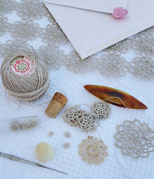Tatting Yarn, Tatting tools,  Vintage tatting, Not crochet