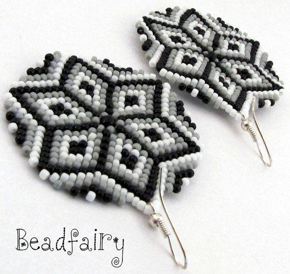 Kaleidoscope Earrings by BeadfairyStore on Etsy