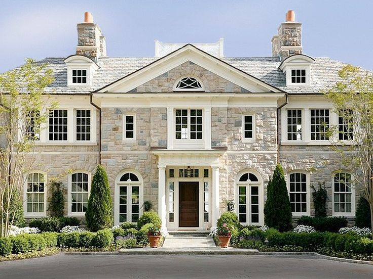556 best house ideas images on pinterest custom homes for Georgian home landscape design