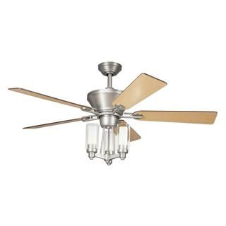 Transitional Brushed Nickel Ceiling Fan and Light Kit - Overstock™ Shopping - Great Deals on Ceiling Fans