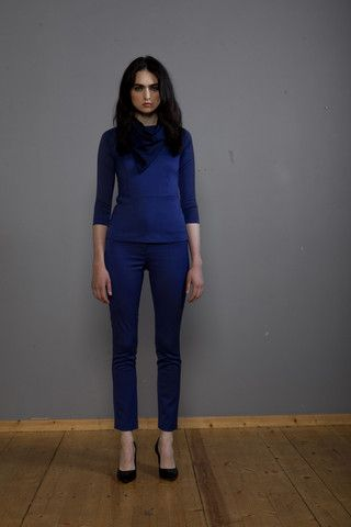 LC Collection, peplum top and cigarette trousers