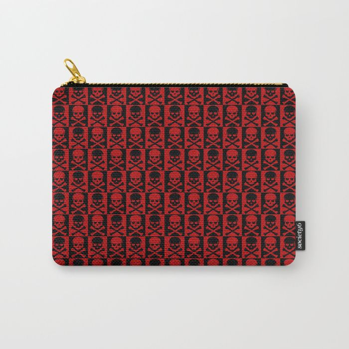 25% Off Everything With Code VDAY25 - Ends Tonight at Midnight PT. Buy Red Skulls Carry-All Pouch by scardesign.  #sales #sale #discount #dorm #campus #deals #39  #gifts #giftideas #online #shopping #valentinesday #valentinesdaygifts #badass #popular #valentine #society6 #campus #dorm #streetwear #style #home #homedecor #homegifts #cool #awesome #family #giftsforhim #giftsforher #kids #skull #rock #swag #rockstyle #red #skull #pouch #rpgdicepouch  #rpg #rpgpouch #organize #gothic #makeup