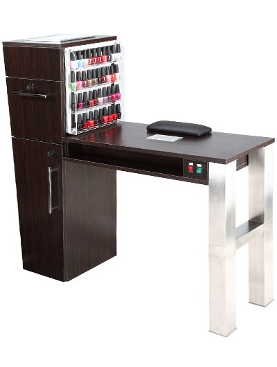 Manicure table mt 07 salon pinterest manicure for Folding nail technician table