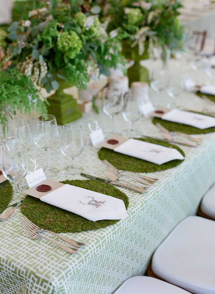 Moss Wedding Decor
