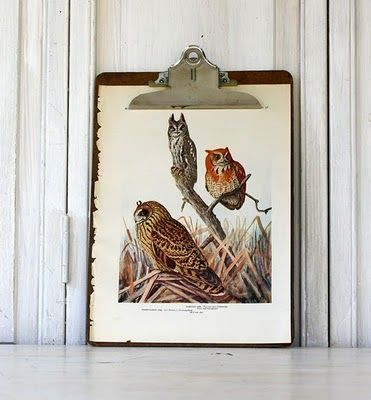 Love this idea for displaying unframed art.