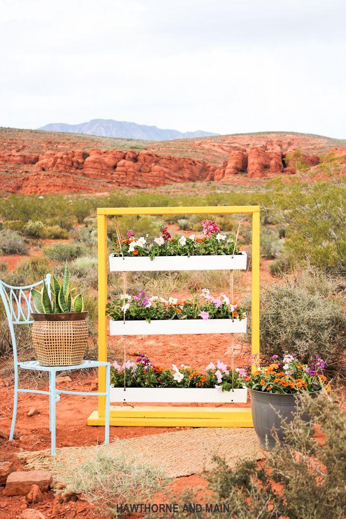 DIY: hanging gutter planter
