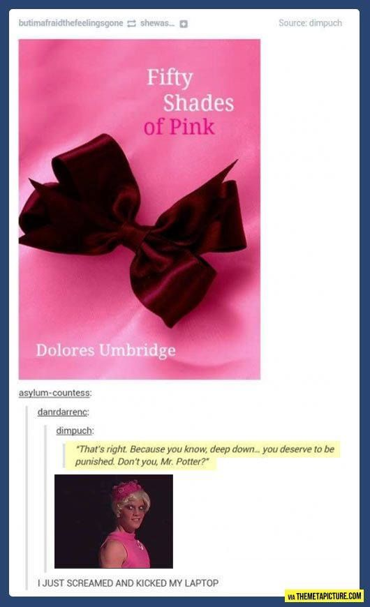 50 shades of pink, haha lol