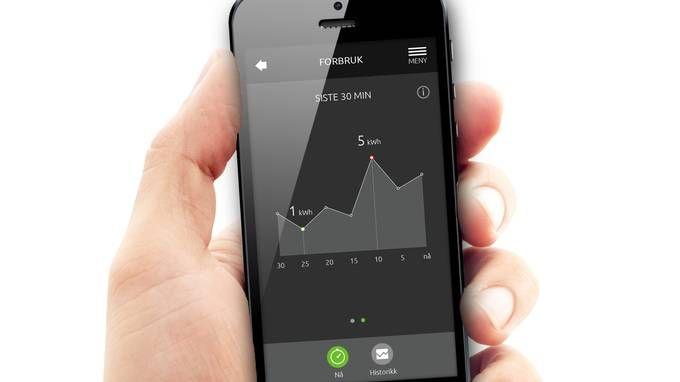 Se hvor mye strøm du bruker. Her Lyse-eide Smartlys nye brukergrensesnitt for mobil.