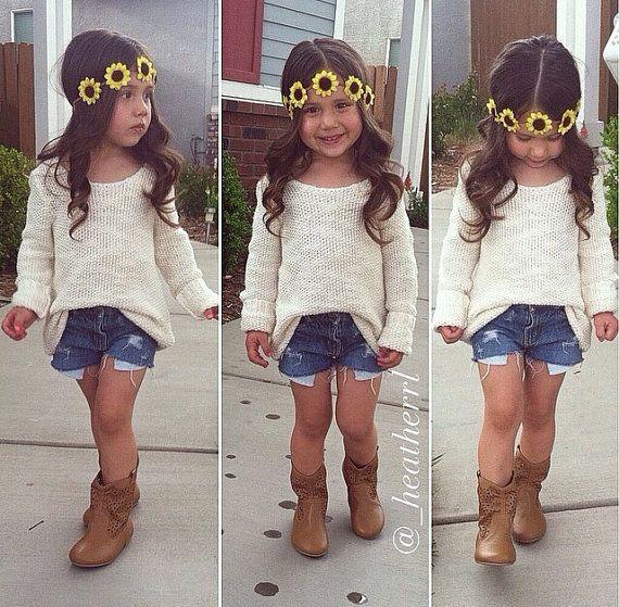 Summer Spring boho- baby sunflower crown- so cute!