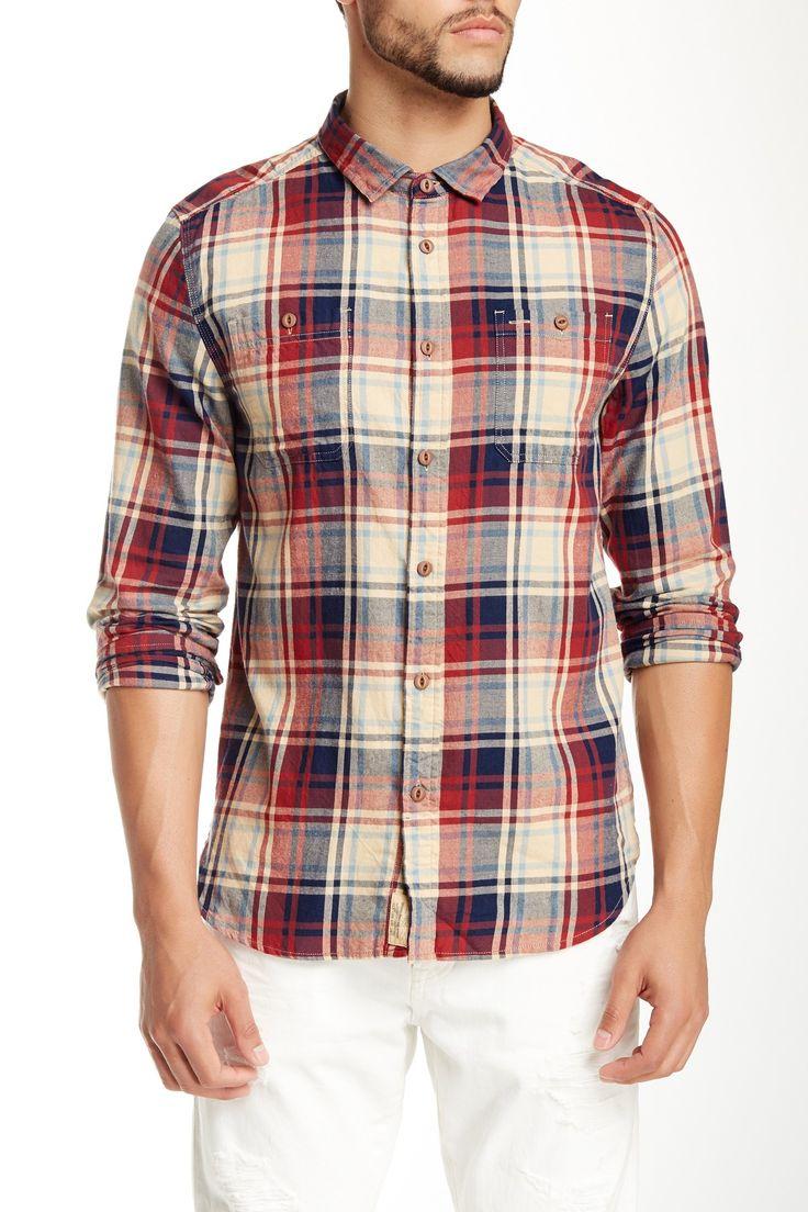 JACHS | Classic Fit Madras Shirt | Nordstrom Rack