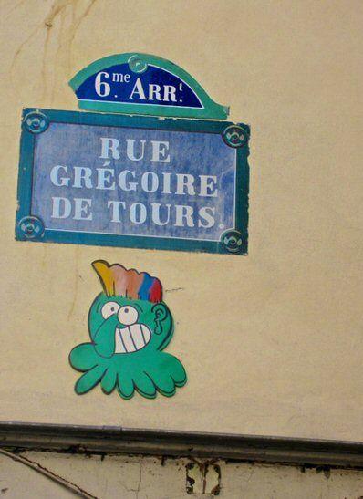 La rue Grégoire-de-Tours  (Paris 6ème)