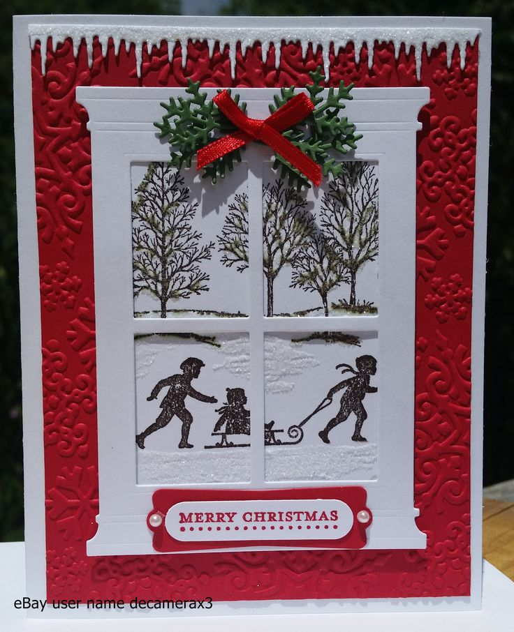 Stampin' Up! Welcome Christmas & Lovely As A Tree Handmade Christmas card by: Quinn eBay user name decamerax3