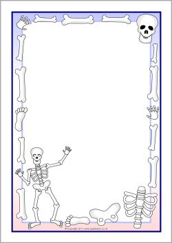 Skeletons A4 page borders (SB7853) - FREE @ SparkleBox