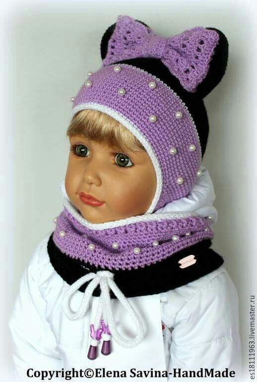 Вязание крючком шапочка летняя для девочки