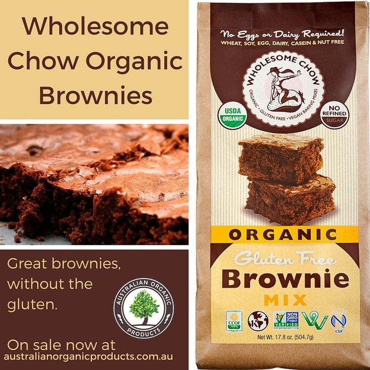 Eating gluten free doesn't have to mean missing out on the good stuff. Wholesome Chow Organic Brownie Mix now on sale!