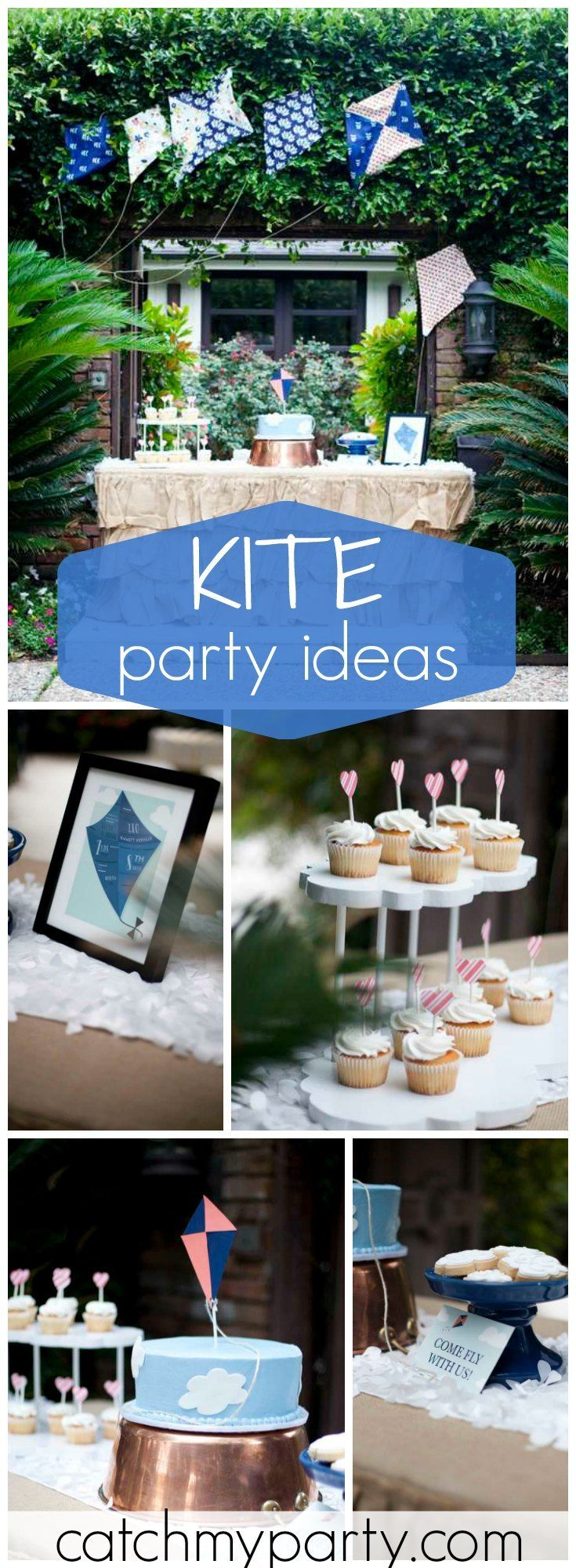 Lots of great ideas at this vintage kite birthday party! See more party ideas at Catchmyparty.com!
