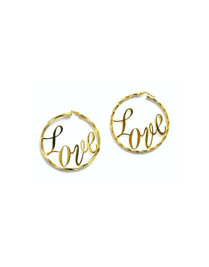 LOVE Full  Hoop EARRINGS by KAHRAMANA! http://www.aura-b.com/earrings/love-full-hoop-earrings/
