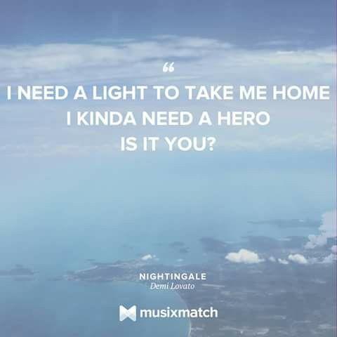 #musixmatch Nightingale #Demi_lovato