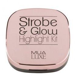 MUA Luxe Strobe & Glow Higlight Kit Zestaw Rozświetlaczy Pearl Gold 119556