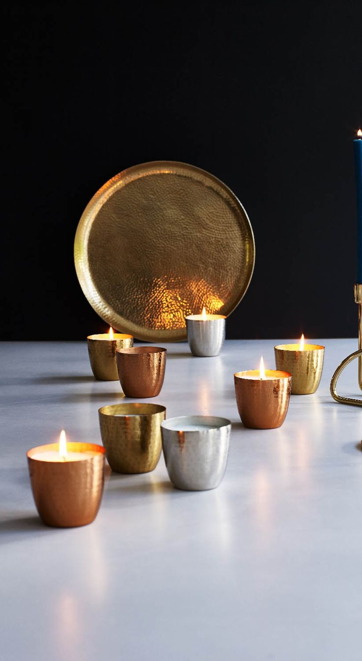 Our Copper Metallic Scented Candle Pot looks great and smells even better. They also make unique gifts for Christmas!