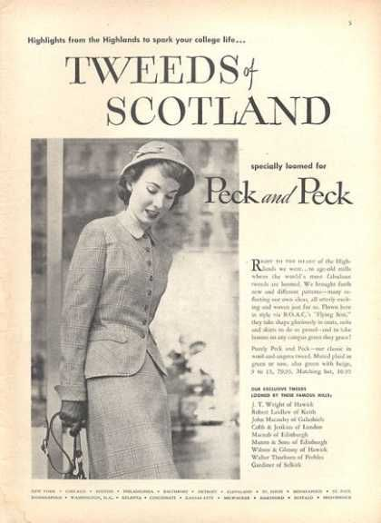 1950s scotland golf vintage clothes fashion ads of the