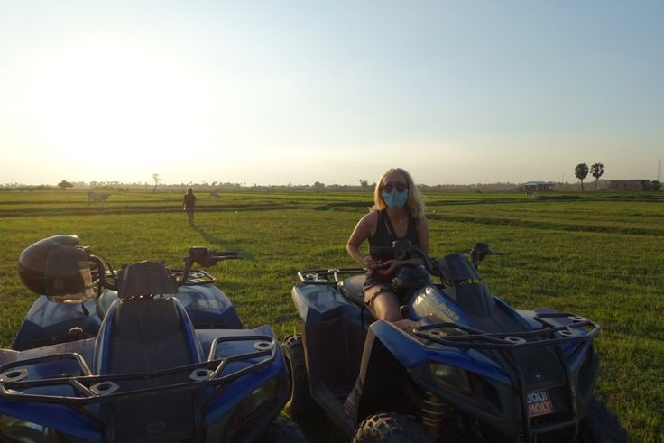 Quadbike tour in Siem Reap, Cambodia.