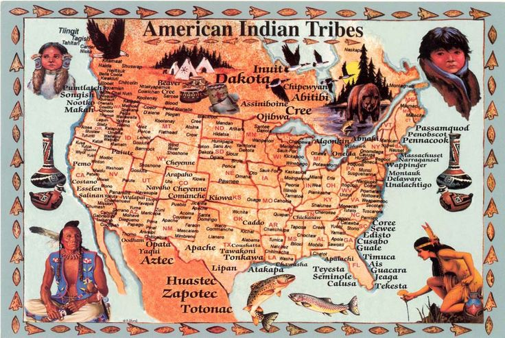 """The Illustrated """"Food Plants of the North American Indian"""": Map of North American Tribes"""