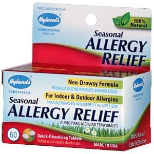 Use HET809 for money off your first order at www.iherb.com.  Hyland's, Seasonal Allergy Relief, 60 Quick-Dissolving Tablets