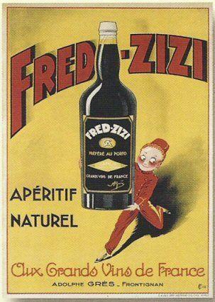 Plaque metal 20x15cm publicite retro aperitif fred zizi for Affiche cuisine retro