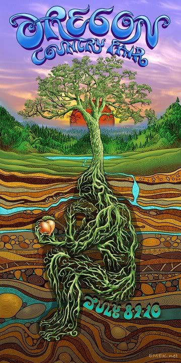 Emek Oregon Country Fair Signed and Numbered Poster print art. To purchase this piece or any other limited edition art prints, visit us @ Printdrop.com