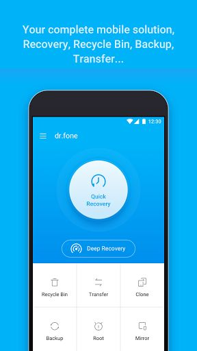 dr.fone - Recovery & Transfer & Backup v3.0.1.141 [Premium]   dr.fone - Recovery & Transfer & Backup v3.0.1.141 [Premium]Requirements:2.3 |RootOverview:dr.fone  the worlds 1st Android Data Recovery Software for Smartphones and Tablets!  This application will enable you to recover accidentally deleted or lost photos videos  MessagesSMSand Contacts from your phone.   Main features   Recovery feature :   Quick RecoveryIf your device is not rooted the app will perform a limited scan for your…