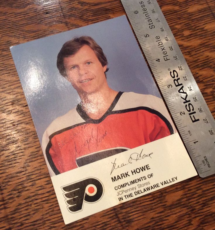 Vintage Hockey Postcard Mark Howe NHL Flyers Autographed by OnceSoldNowNew on Etsy