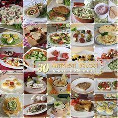 30 ANTIPASTI VELOCI PRONTI IN 20 MINUTI #antipasti #veloci #ricette #carne #pesce #vegetariani #natale #capodanno #facili #gustose #sfiziosi #ricetta #ricette #ilchiccodimais https://blog.giallozafferano.it/ilchiccodimais/antipasti-veloci-pronti-20-minuti/
