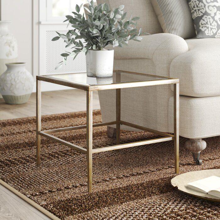 Glass Top End Table Glass Top End Tables Glass Table Decor Living Room Side Table