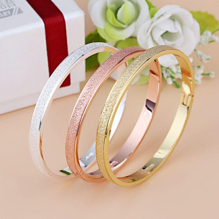 Femelle Givré Amour Bracelet Chaud De Luxe Poussière Manchette Bracelets & Bangles Marque Boucle Bracelet Pour Les Femmes Cadeau Bijoux En Gros 2016