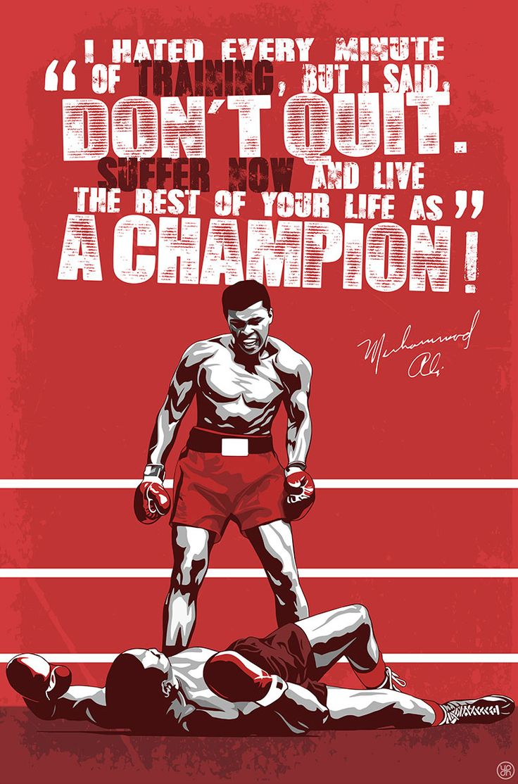 Workout Quotes Wallpaper Muhammad Ali Poster Designed By Joussef Habchi