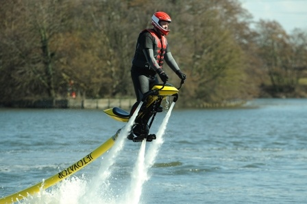 The flying jetski unveiled at Gadget Show Live, known as the Jetovator, will set you back £8,000...