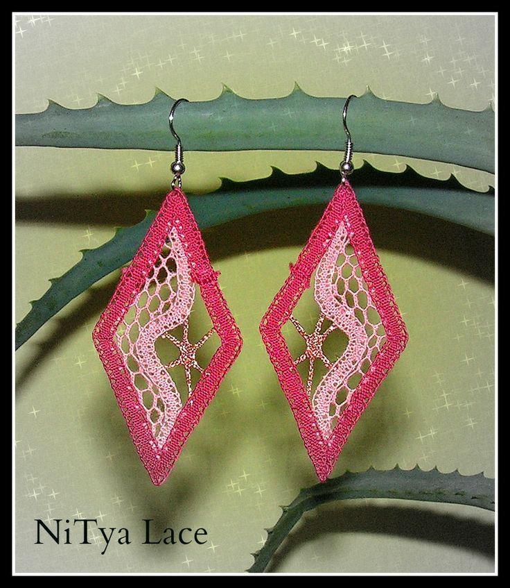 handmade bobbin lace earrings