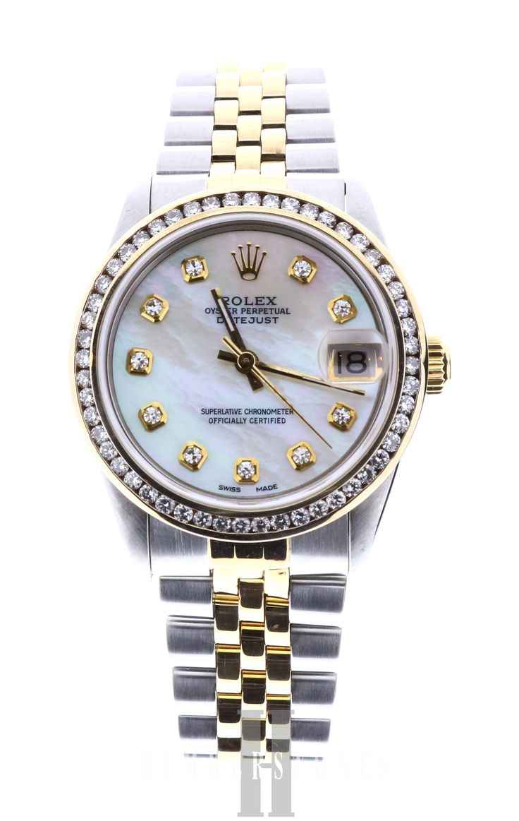 Rolex DateJust 68273, 18ct Gold & Stainless Steel, Pearl & Diamond Dot Dial, available on finance or for part exchange now at Humberstones Jewellers.