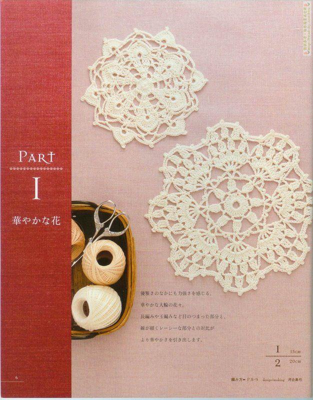 crochet pattern (fiori indipendenti e pizzo) - zhu_yhy0111 - Blog di zhu_yhy0111
