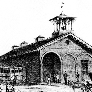 York's old Northern Central Railway station in 1852.