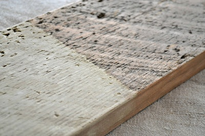 "Bleaching wood for ""natural raw look"" from frugal farmhouse design"
