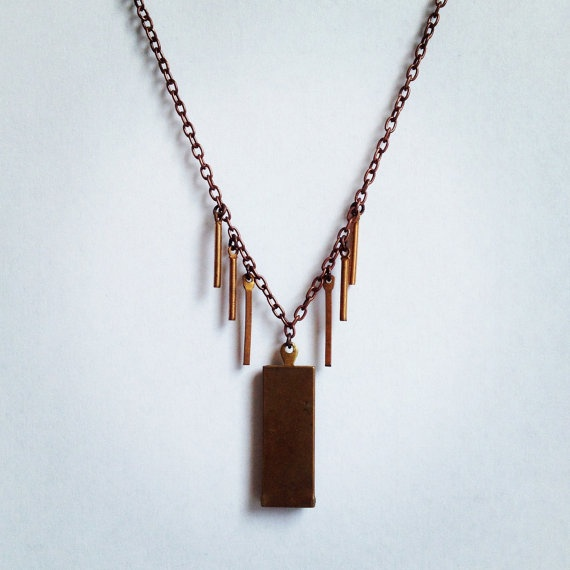 Brooklyn Necklace  Copper/Brass by flockaccessories on Etsy, $22.00