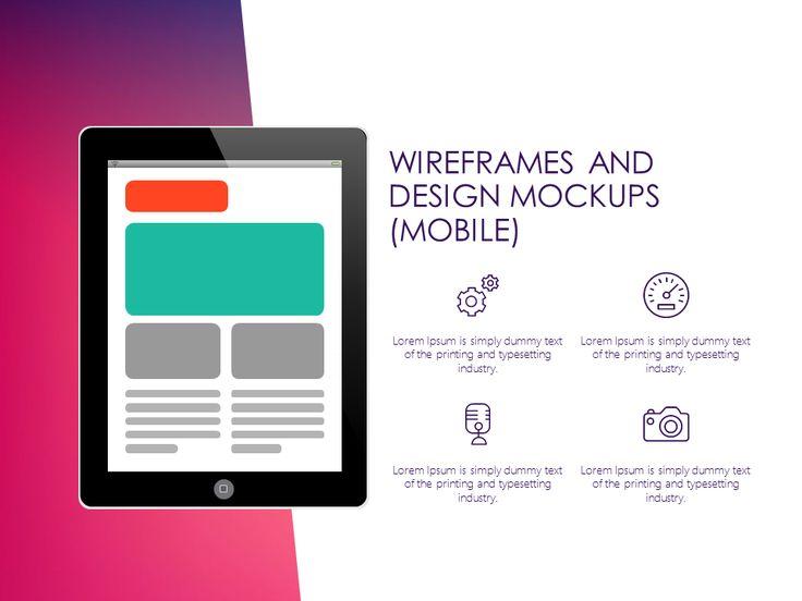 UX Design PowerPoint template #technology #mockups #presentationdesign