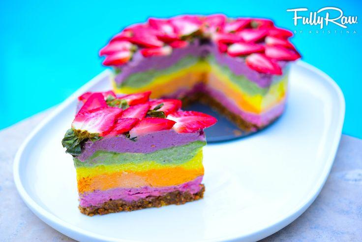 Fully Raw Rainbow Cake | Delicious & Healthy Recipes ...